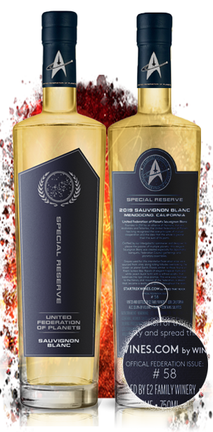 Star Trek Wines United Federation of Planets Special Reserve Sauvignon Blanc