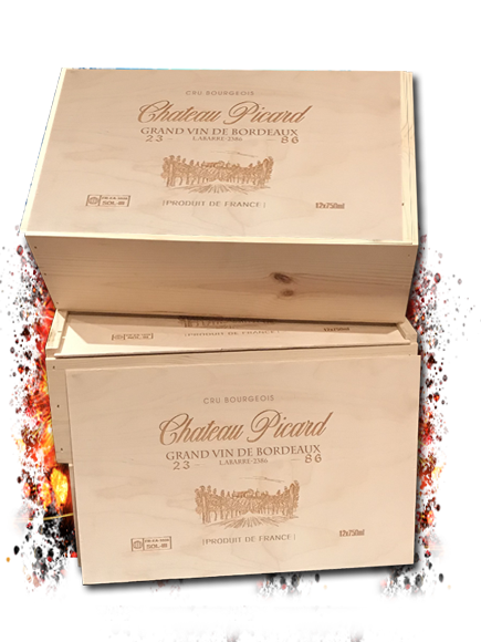 Chateau Picard Show Prop Replica 12 Bottle Wood Crate